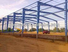 Industrial prefabricated steel frame shed