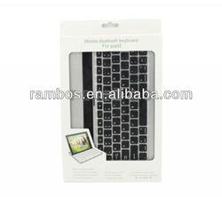 Tablet Aluminum Case Wireless Bluetooth Keyboard for iPad 2 3