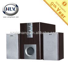 2.1 Hi-Fi Woofer Speaker System USB, Full Wooden Cabinets, High Sound Quality