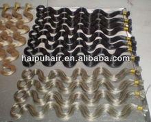 Fashionable keratin hair extensions, nail tip hair extension, cold fusion hair extension