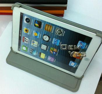 2013 Hot! Stand PU Leather Case For mini iPad