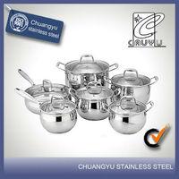 12 pcs prestige stainless steel technique cookware sets