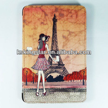 cartoon for ipad mini pu leather printing case