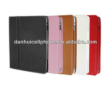 solid color durable leather kickstand case for ipad 2 3