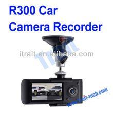 R300 2.7-inch TFT LCD Dual Lens HD Car DVR Video Camera Recorder+GPS Logger, G-sensor+140 Degree View Angle