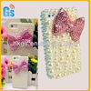 Luxury 3D Handmade Bow Bling Pearl Diamond Case For Iphone 5