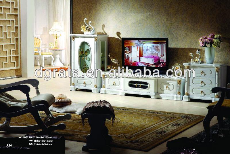 2013 moderne en bois massif meuble tv en bois massif pour tre termin pour l - Model meuble pour salon ...