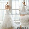 elegante modelo famosa grande falda de grasa con el tamaño de la boda vestido