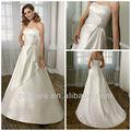 2013 todas as cores a linha strapless frisada império cetim estilo simples vestido de noiva arábia saudita wd133