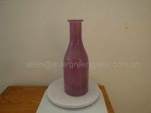 purple flower glass vase