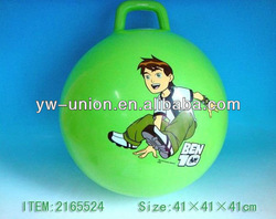 "18"" Customized Inflatable Bouncy Jumping Handling PVC Ball with Ben Printing"