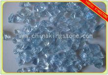 light blue clear color glass rocks for landscaping