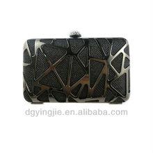 2014 fashion ladies hand purse black frame evening purse YJ6028