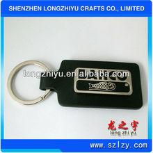 2012 Promotional metal fish leather keyring