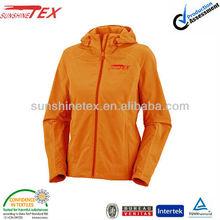Orange color waterproof softshell outdoor lady wear