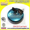 Gn125 motocicleta accesorios, motos tanque de combustible
