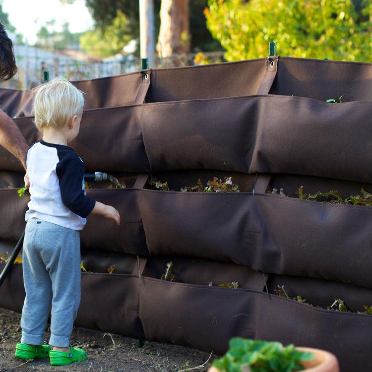 jardim vertical tecido:Flor caixas de Mini – Greenwall plantadores para jardim vertical-Sacos