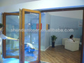Cuarto de baño doble- puerta de estilo alemán de pura madera maciza puerta plegable