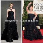 2013 DEBRA MESSING Golden Globe Dress Straigth Neck Floor Length Bubble Skirt Celebrity Red Carpet Dress Free Shipping GL0008