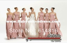 New arrival A-line Sweetheart Pleated flower elegant new Style fashion bridesmaid dress 2012