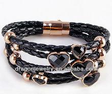 2012 jewelry leather bracelets bangle wholesale