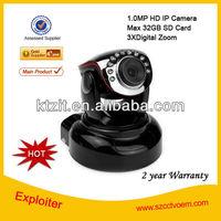2 Year Warranty CCTV 1.0 MP H.264 IR-CUT HD 720P Wireless/Wired IR PTZ IP Network Camera