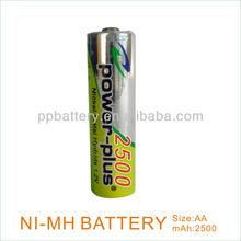 2500mAh 1.2V NimH AA Rechargeable Battery