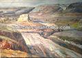 De haute qualité village, paysagematériel oeuvres peinture à la main pour le grossiste