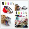 16 Color Rolls Striping Tape Line Nail Art Decoration Sticker