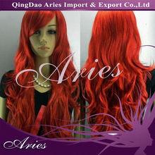 LONG WAVY RED AAAAA GRADE carnival wig