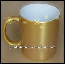 11oz ceramic sublimation gold mug