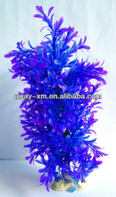 Aquarium Fish Tank Artificial resin Plant Ornament w Base