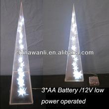PVC lighting pyramid, Christmas Decoration, LED PVC festival ornament