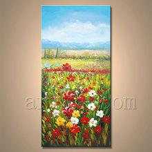 Newest Handamde Garden Scenery Oil Painting For Decor