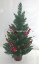 Natural Christmas tree with red berries