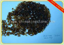 Dark tea color glass chips for terrazzo use