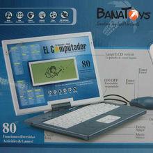 Intelligent English and Spanish kids laptop learning machine
