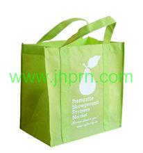 Rabbit printed lime green shopping bag made by NWPP