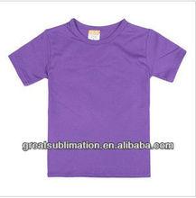 100% Cotton Kids T-shirt for sublimation