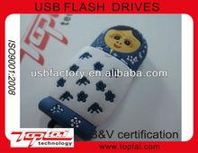 Cool Gift Cartoon Girl Key USB2.0 Flash Memory Pen/USB Keys