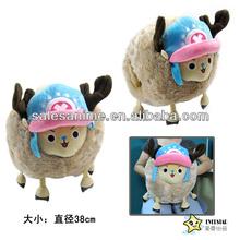 Wholesale High Quality Anime Cute Cartoon Soft Warm One Piece Chopper warm hand plush doll cushion