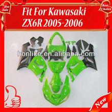Race Fairings Kit for KAWASAKI Ninja ZX6R 05-06 2005-2006 ZX-6R 2005 2006 ZX6R ZX 6R 05 06 Body Kits Green/Black