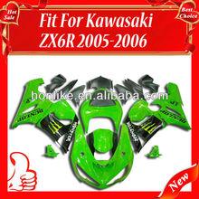 ABS Fairing Kits for KAWASAKI Ninja ZX6R 05-06 2005-2006 ZX-6R 2005 2006 ZX6R ZX 6R 05 06 Body Kits Green/Black