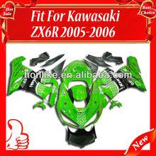 Fairing Kits for KAWASAKI Ninja ZX6R 05-06 2005-2006 ZX-6R 2005 2006 ZX6R ZX 6R 05 06 Body Kits Green/Black