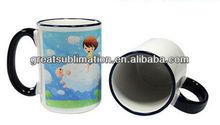 11oz ceramic rim color mug for sublimation