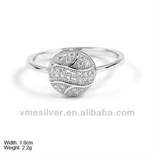 [RzQ-0004] 925 Sterling Silver Ring with CZ Stones,Sterling Silver Hip Hot Jewelry CZ Rings,Wholesale Ring,New Design for 2013