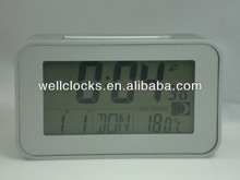 High-Quality multi-function LCD display Solar power Radio controlled clock