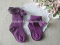 Les filles en dentelle de coton chaussettes& jeunesse, nouveau design de coton chaussettes& filles. personnalisés de conception chaussettes