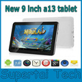2013 new arrival 9 inch Allwinner A13 tablet Wifi Camera 512MB DDR3 8GB MID