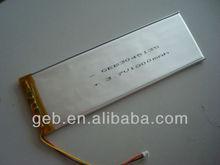 3.7V 2200mAh lithium polymer battery